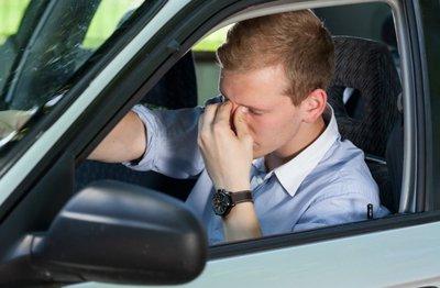 Hiện tượng Mirage có thể gây mỏi mắt khi lái xe.