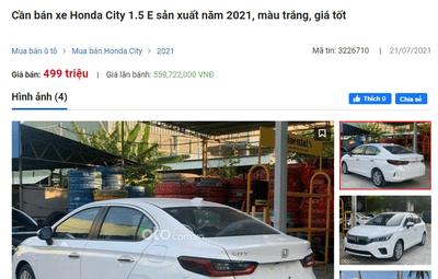 Honda City bản E hiện chỉ còn 499 triệu đồng 1