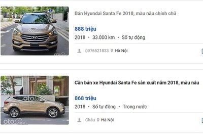 Giá xe Hyundai Santa Fe 2018.