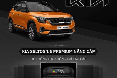 Hệ thống lọc không khí trên xeKia Seltos 1.6 Premium được điều khiển thông qua màn hình giải trí đa phương tiện.