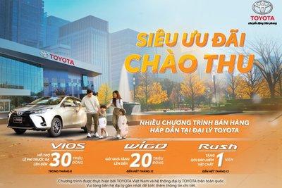 Chương trình ưu đãi đươc thực hiện bởi Toyota Việt Nam và hệ thống đại lý Toyota trên toàn quốc.