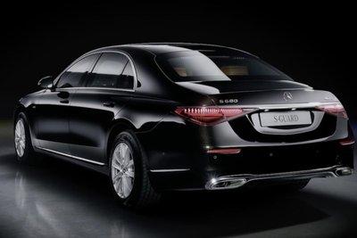 Mercedes-Benz S-Class bọc thép mặt sau