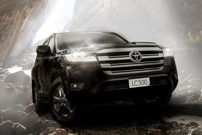 Toyota Land Cruiser 2022 đen mặt trước