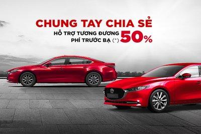 New Mazda CX-5 được hỗ trợ 50% phí trước bạ.