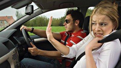 hành khách khó chịu với lái xe