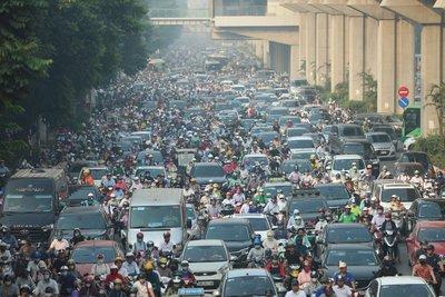 tắc đường tại Hà Nội