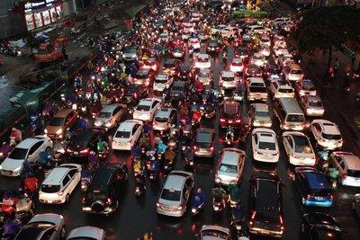 tắc đường tại Hà Nội 1