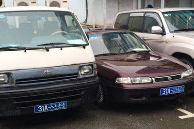 Nhiều xe ô tô công được rao thanh lý với mức giá chỉ từ vài triệu đồng.