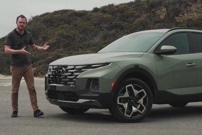 Đây là trải nghiệm Hyundai Santa Cruz 2022 ngoài đời thực Có gì đấu Ford Ranger a2