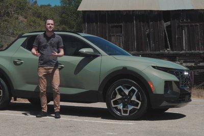 Đây là trải nghiệm Hyundai Santa Cruz 2022 ngoài đời thực Có gì đấu Ford Ranger a1
