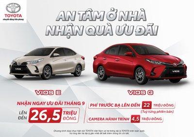 mua xe Toyota Vios trong thời gian này, khách hãng còn nhận được sự hỗ trợ từ Công ty Tài Chính Toyota Việt Nam với gói vay ưu đãi lãi suất  1