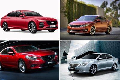 Sedan tầm giá 1 tỷ tháng 8/2021: Camry, Lux A2.0 tụt thảm, duy nhất Mazda6 tăng nhẹ.