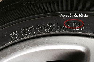 Áp suất lốp đa ô tô.