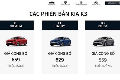 giá xe KIA K3 2022 1